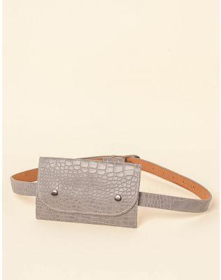 Ремінь з гаманцем під шкіру крокодила | 237654-11-XX
