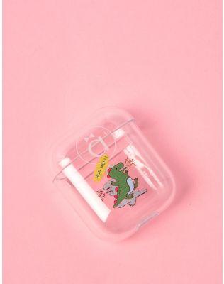 Чохол для навушників прозорий з молодіжним принтом | 238056-20-XX