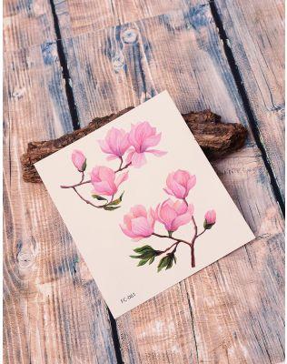 Тату тимчасове з принтом квітів на гілках   238221-21-XX