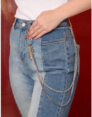 Ланцюжок подвійний на джинси та одяг з хрестом   238829-05-XX