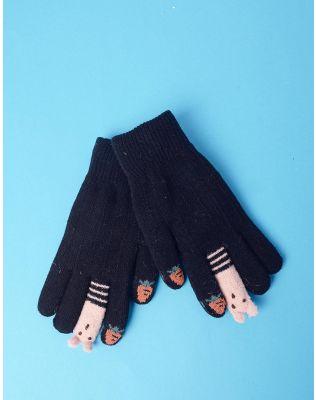 Рукавички з полуницею та звірятками на пальцях | 235297-02-XX