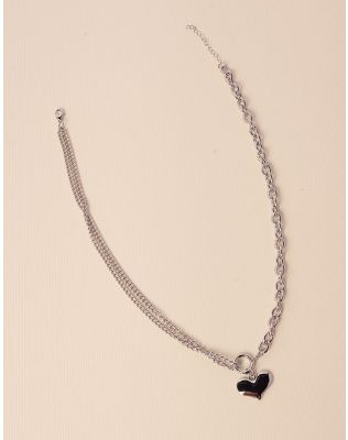 Підвіска із ланцюжків з кулоном у вигляді серця | 238578-05-XX