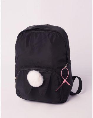 Рюкзак молодіжний  з вушками та помпоном на кишені | 238709-02-XX