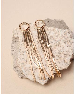 Сережки довгі зі стрічками | 234642-04-XX