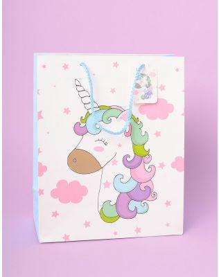 Пакет подарунковий із зображенням єдинорога | 233351-01-XX