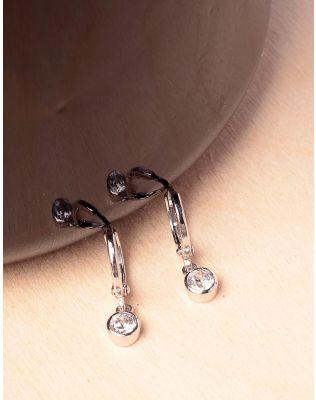 Сережки кільця маленькі з кристалами | 233739-06-XX
