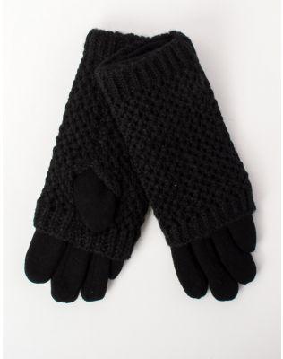 Перчатки крупная вязка с плюшевой подкладкой   213135-02-11