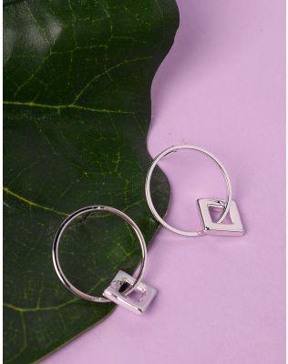 Сережки кільця з підвіскою | 235913-05-XX