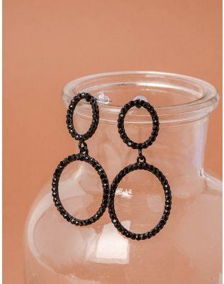 Сережки кільця з камінцями | 237993-02-XX