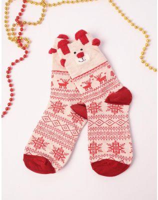 шкарпетки новорічні з ведмедиками | 239517-22-XX