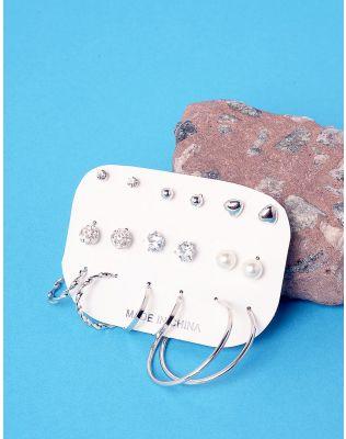 Сережки пусети та кільця у наборі | 237105-05-XX