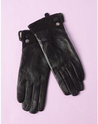 Перчатки из натуральной кожи теплые   234661-02-13