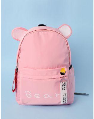 Рюкзак молодіжний з вушками та написом | 233560-14-XX