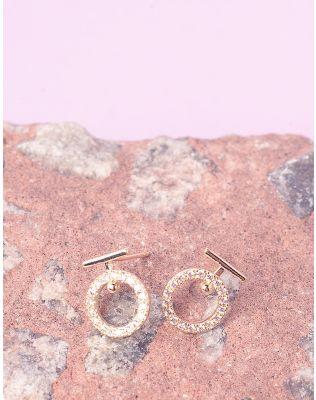 Сережки пусети з кільцями   236938-04-XX