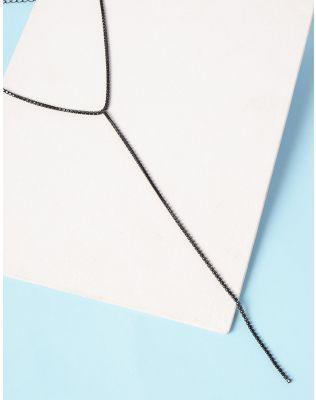 Підвіска на шию декорована стразами | 235312-02-XX