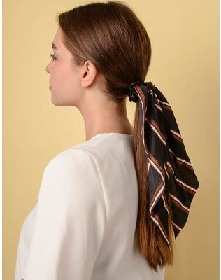 Резинка для волосся у смужку з великим бантом | 238353-02-XX