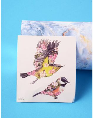 Татуювання тимчасове з принтом пташок   236342-21-XX