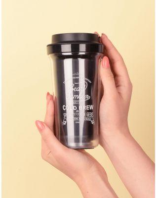 Склянка на 400 мл прозора  з написом   238557-02-XX