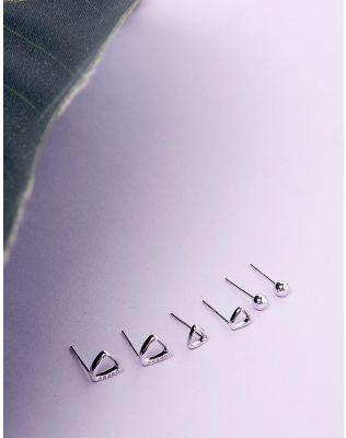 Сережки пусети в наборі з 6 шт   235917-05-XX