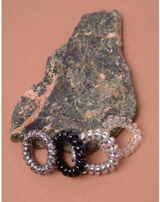 Резинка для волосся спіральна металізована у наборі | 238162-45-XX