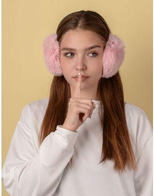 Навушники хутряні з тонкою дужкою | 234294-14-XX
