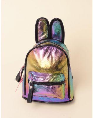 Рюкзак для прогулянок металізований з вушками | 237955-21-XX