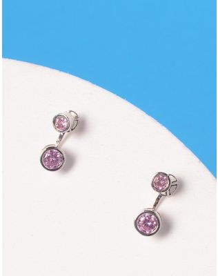 Сережки двосторонні з кристалами   228417-70-XX