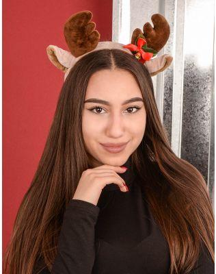 Обідок для волосся новорічний з рогами оленя | 239752-12-XX