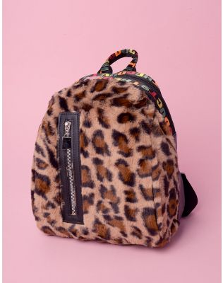 Рюкзак хутряний з принтом леопарда | 237323-12-XX