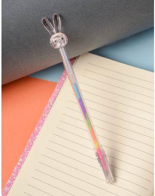 Ручка з кольоровою пастою та зайчиком на кінці | 237823-14-XX
