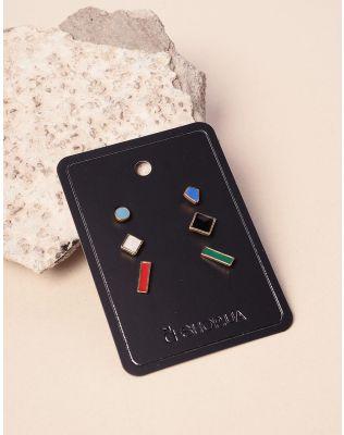 Сережки пусети фігурні у наборі   237737-21-XX