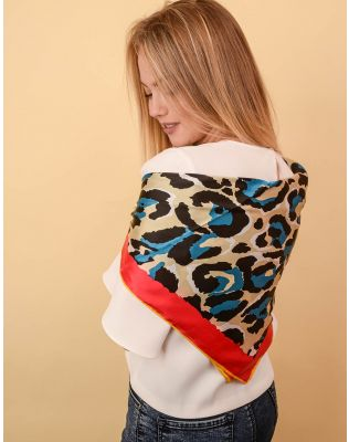 Хустка з леопардовим принтом | 238626-21-XX