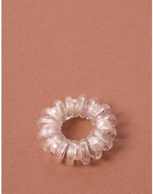 Резинка для волосся спіральна з намистинами   238161-01-XX