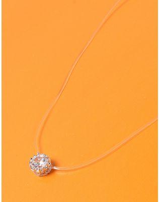 Чокер из лески с кристаллом в кулоне | 233713-06-XX