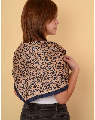 Хустка на шию з леопардовим принтом | 238622-39-XX