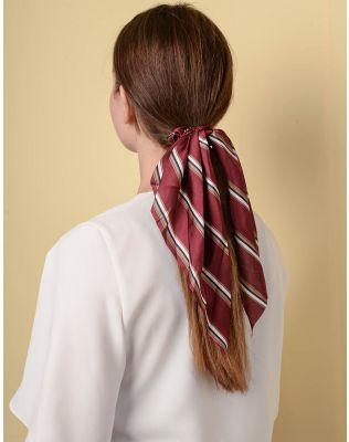 Резинка для волосся у смужку з великим бантом   238353-27-XX