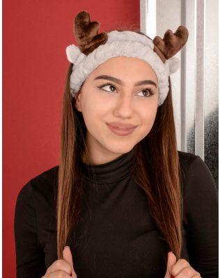 Пов язка на голову з вушками та рогами оленя | 233894-11-XX