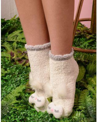 Шкарпетки високі теплі з пугаком   235280-01-XX