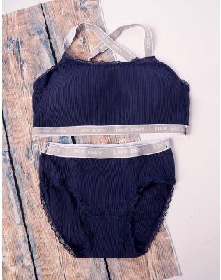 Комплект жіночої білизни з топу та трусиків | 238446-30-21