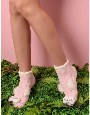 Шкарпетки високі теплі з пугаком   235280-14-XX