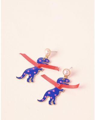 Сережки з динозаврами | 236929-13-XX