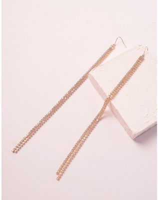 Сережки довгі з камінцями | 239904-04-XX