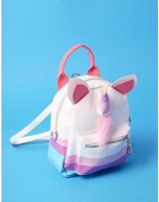 Рюкзак трансформер міні у вигляді єдинорога з вушками | 235896-18-XX