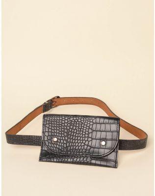 Ремінь з гаманцем під шкіру крокодила | 237654-02-XX