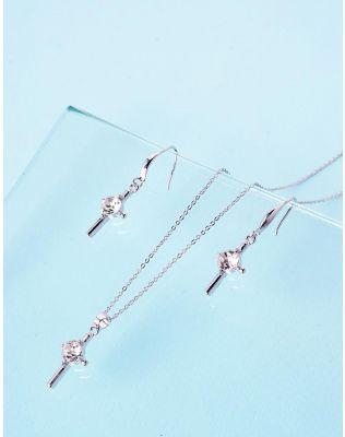 Комплект з підвіски та сережок з хрестами | 236593-06-XX