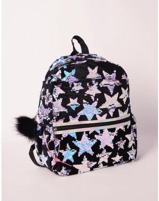 Рюкзак молодіжний з зірочками із паєток | 238846-02-XX