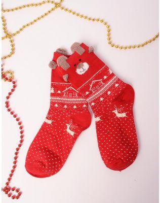 шкарпетки новорічні з ведмедиками | 239517-15-XX