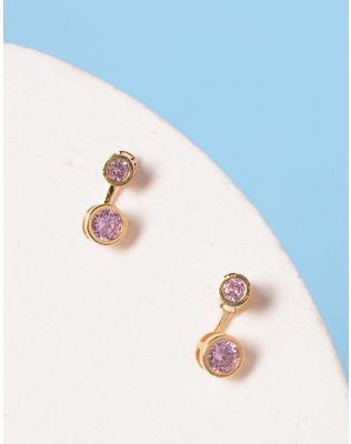 Сережки двосторонні з кристалами | 228417-69-XX