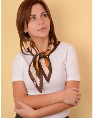 Хустка на шию плісирована з орнаментом | 238621-21-XX