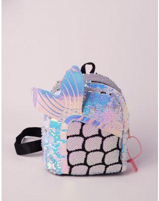 Рюкзак міні голографічний з хвостом русалки | 238431-35-XX